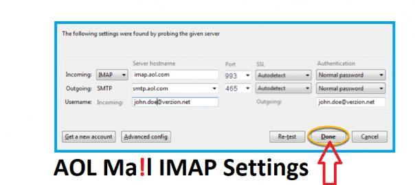 AOL Mail IMAP Settings